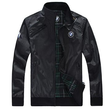 ONETOW Boys & Men BMW Two-Sided Cardigan Jacket Coat