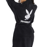 Joyrich x Playboy, Playboy Bath Robe - Black - JOYRICH - MOOSE Limited