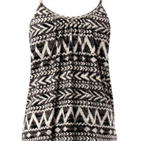Black/White Aztec Print Tank Top
