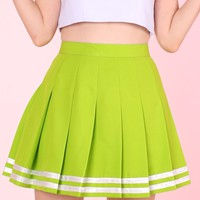GFD Green Cheerleading Skirt