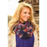 Dartmouth Darling Infinity Scarf-Navy