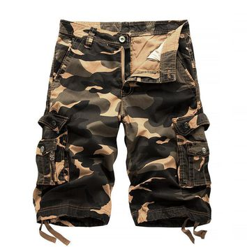 Summer Tactical Camo Shorts Mens Camouflage Cargo Shorts Casual Loose Cotton man Army Short Pants Clothing 29