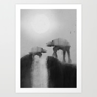 Big Walker Is Watching You Art Print by TwO Owls