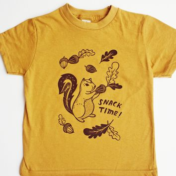 Squirrel Kids Tshirt Toddler T-shirt / Snack Time Kids Tee at boygirlparty.com