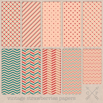 SALE Green pink and red chevron and other designs digital papers. Great for blog or web backgrounds, paper crafts, scrapbooking and more