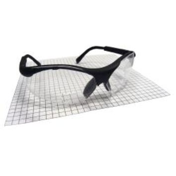 SIDEWINDER SAFETY GLASSES BLACK 2.5 READER LENS