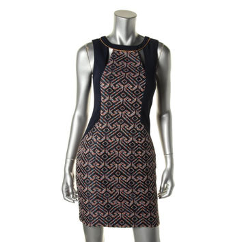 Trina Turk Womens Woven Cut-Out Wear to Work Dress