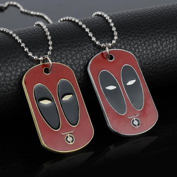 Deadpool Necklace DC Comics Jewelry LOGO Dog Tags Pendants Necklaces for Women Men