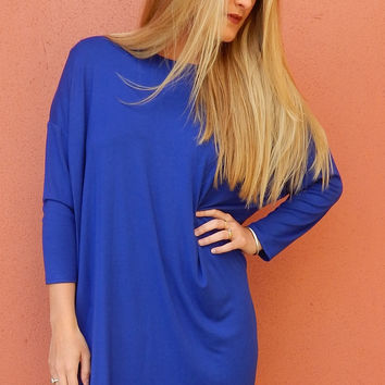 Cobalt Shift Dress