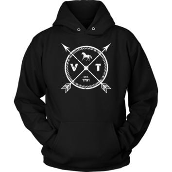 Vermont Pride Hoodie - Est 1791 Arrows State Horse Gift