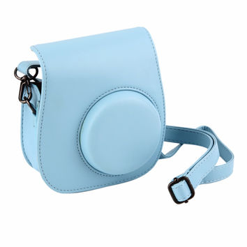 Leather Camera Strap Bag Case Cover Pouch Protector For Polaroid Photo Camera For For Fuji Fujifilm Instax Mini 8