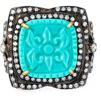 Gemco Turquoise And Diamond Cocktail Ring - Jewellery Atelier - Farfetch.com