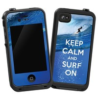 Keep Calm and Surf On Skin  for the iPhone 4/4S Lifeproof Case by skinzy.com