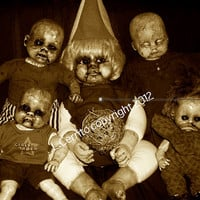 Creepy Doll Photography Little Monsters Ghouligans Funny Weird Odd Holiday Scary Gang 3