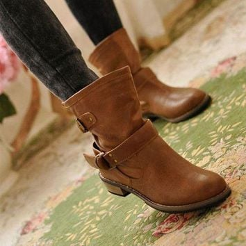 Women Fashion Winter Motorcycle Boots