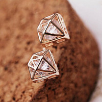 Mini Rhinestone Stud Earrings