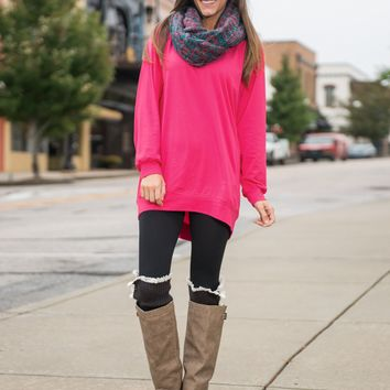 Solid Loose Long Sleeve Shirt