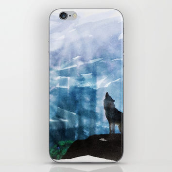 Howling To The Moon iPhone Skin by naumovski