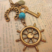 Lucky Sailor charm necklace by trinketsforkeeps on Etsy