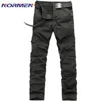 2017 new Brand casual Camouflage Cargo Pants pocket cotton Overalls loose Trousers for Men Free Shipping