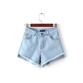 Summer Korean Stylish High Waist Slim Denim Pants Shorts [8173444935]