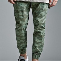 Bullhead Denim Co. Tiger Camo Cargo Skinny Jogger Pants - Mens Pants - Camo