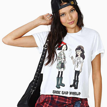 SICK SAD WORLD Print Daria & Quinn T Shirt