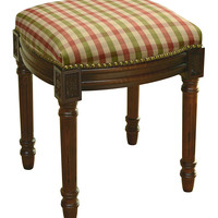 123 Creations Red & Green Plaid Upholstered Vanity Stool | zulily