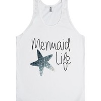 Mermaid Life-Unisex White Tank