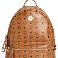 MCM 'Medium Stark - Visetos' Studded Backpack