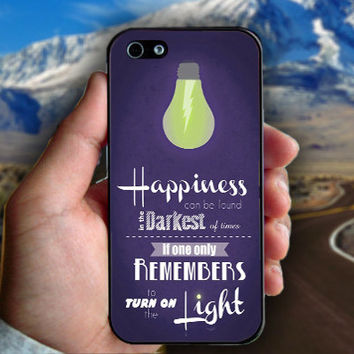 Harry Potter Happiness Quotes - Print on hard plastic case for iPhone case. Select an option