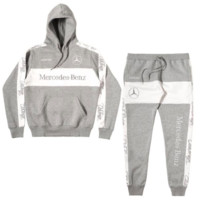 Club Foreign Sports Suit Merc Embroidered Hoodie and Sweatpants in Grey