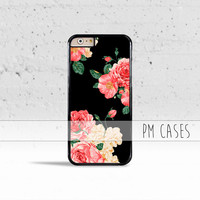 Large Carnations Floral Case Cover for Apple iPhone 4 4s 5 5s 5c 6 6s SE Plus & iPod Touch