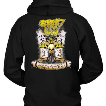 Bring Me The Horizon Illustration Wolves Hoodie Two Sided