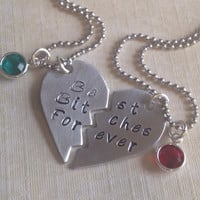 Best Bitches Forever: hand stamped best friend jewelry, best friend charms, buddies