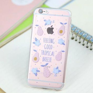 Cute Pear Cover Case for iPhone 5s 5se 6 6s Plus Gift 318-170928