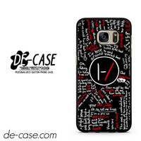 Twenty One Pilots Lyrics DEAL-11475 Samsung Phonecase Cover For Samsung Galaxy S7 / S7 Edge