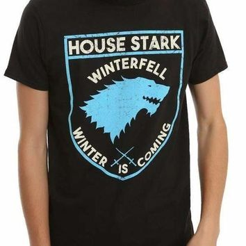 GAME OF THRONES STARK SHIELD LOGO T-SHIRT