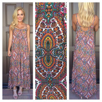 Sea Siren Paisley Maxi Dress