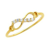14k Yellow Gold Infinity Fashion Ring