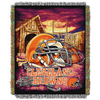 Cleveland Browns NFL Woven Tapestry Throw (Home Field Advantage) (48x60)