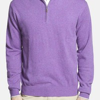 Men's Peter Millar Regular Fit Cashmere Quarter Zip Sweater,