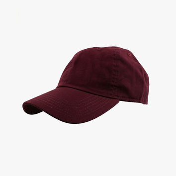 Maroon Cotton Cap