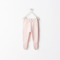 Drawstring detail knit trousers