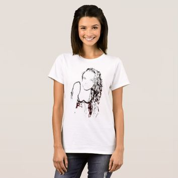 Crawling Girl Tee Black&White