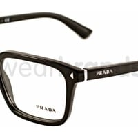 Prada PR 04RV Prada PR04RV 1AB101 Black Glasses | Eyewear Brands