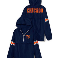 Chicago Bears Half-Zip Windbreaker - PINK - Victoria's Secret
