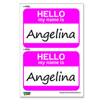 Angelina Hello My Name Is - Sheet of 2 Stickers