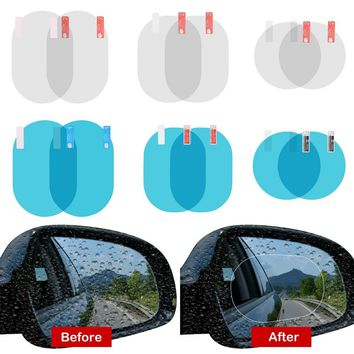 2PCS/Set Car Anti Fog Membrane for Rearview Mirror Anti-glare Waterproof Rainproof Automobiles Window Clear Film Car Stickers
