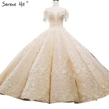 Extreme Luxury Sleeveless Sexy Vintage Wedding Dresses 2018 Crystal Flowers High-end Custom Tulle Bridal Gown Real Photo